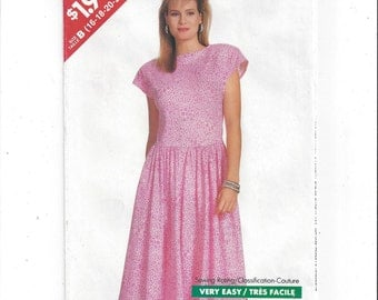 Butterick 6165 See & Sew Pattern for Misses' Dress, FACTORY FOLDED, UNCUT, From 1988, Size 16 to 24, Vintage Pattern, Home Sew Pattern, Easy