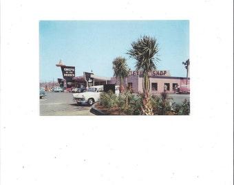 1960s Vintage Color Postcard, South of Border Motel, Dillon, South Carolina, Unposted, Vintage Postcard, Don Hylland, Tobacco Trail Ephemera