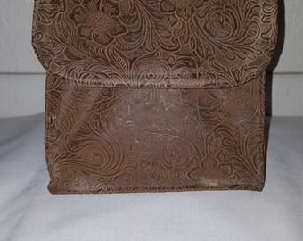 Custom Insulated Leather Like Lunch Bag Sack- (reusable, eco friendly, washable)