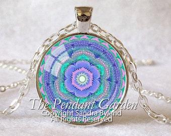 CHAKRA PENDANT Throat Chakra Necklace Aqua Blue Chakra Spiritual Pendant Yoga Necklace Energy Healing Meditation Sterling or Silver Plate