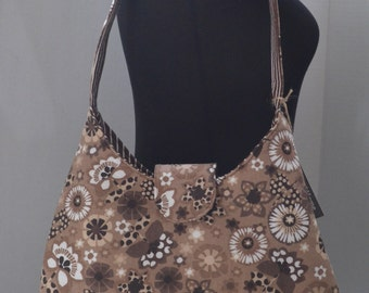 Brown Floral Phoebe Handbag