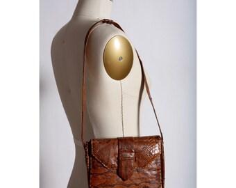 1960's Genuine Python Sling Bag
