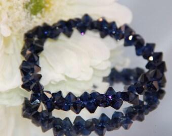 Swarovski Crystal Cobalt Blue Rock Candy Bracelet