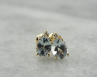 January Sky, Aquamarine and Diamond Earrings Q9JAZ6-N