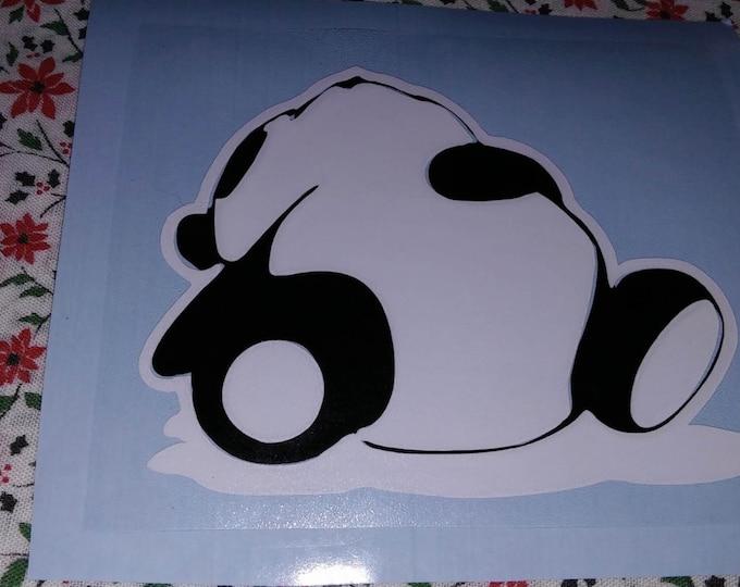 Sleeping Panda Two Color Vinyl Decal