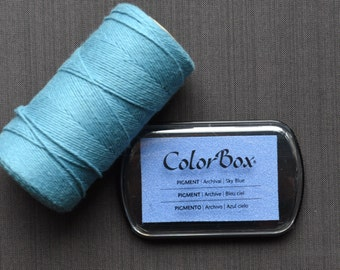 Sky Blue Color Box Ink Pad - Archival Pigment Ink (Item 15038)
