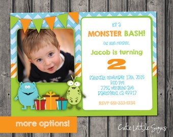 Monster Birthday Invitation Digital Download