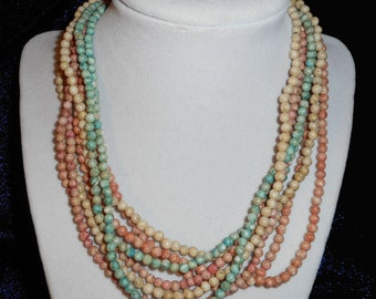 Vintage 4 Strands of Twist Bead Necklaces (B 531)