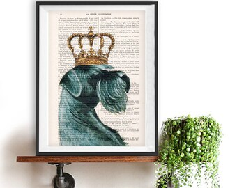 Schnauzer poster, schnauzer king, Schnauzer Art Print, Gift for Him, Red, Office Wall Art, Wall Decor, Home Decor, black dog