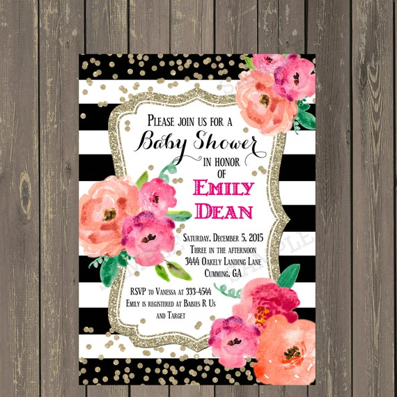 Black and white baby shower invitation black white stripe il570xn filmwisefo Images