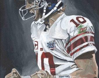 Eli Manning New York Giants Super Bowl Glicee Prints