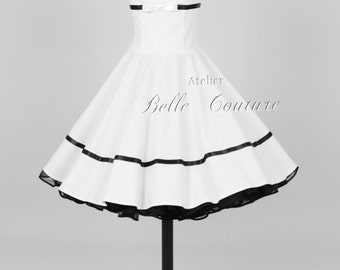 Custom Made & Handmade - 50s petticoat bridal dress item: 21white