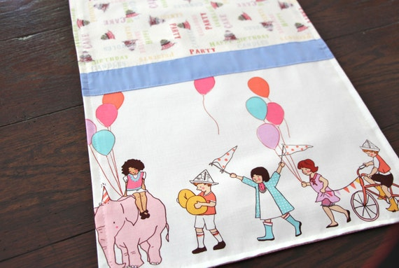Happy Birthday Table Runner Kids on Parade