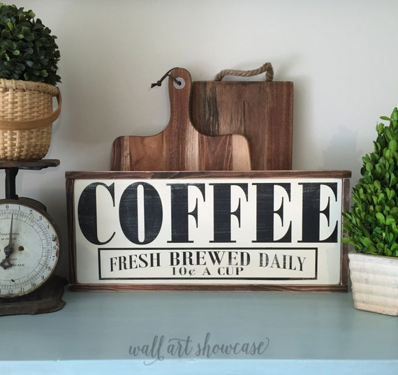 Ratings Feedback For Gavan Wood Painting Decorating: Coffee Hand Painted Wood Sign Wood Sign By WallArtShowcase