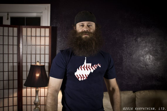West Virginia baseball mens tee