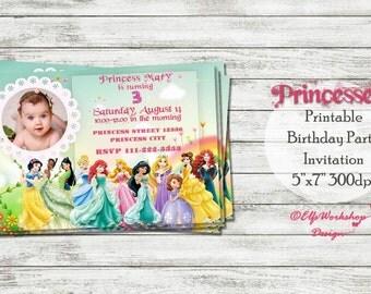 Princesses invitation, Princesses birthday, Princesses party invitation, Princesses invitation, Princesses invite