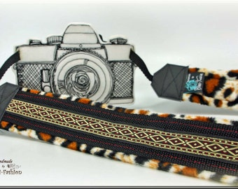 Camera strap, brown SAFARI