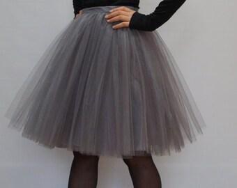 Tulle Tutu Skirt - Bridesmaid Dress - Womens Custom Skirt - Engagement Skirt - Bridal Party Skirt - Blush Tutu Skirt - Skirt by breauxsews