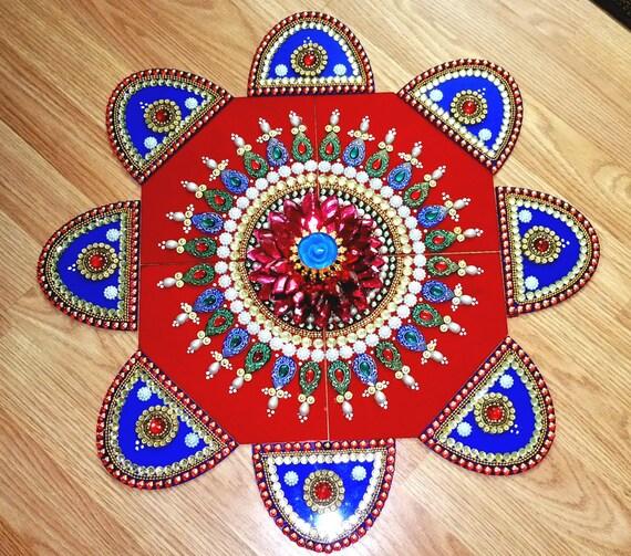 Wedding Kolam Images: Big Rangoli Indian Wedding Decor Traditional By