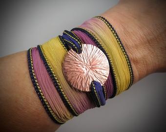 Radial Copper Wrap Bracelet