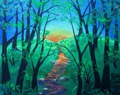 Enchanted Forest, How to Paint an Enchanted Forest, Acrylic Painting Instructions by Mariya Kovalyov