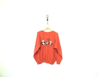 Vintage Sweatshirt with Panda Graphic