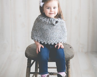 Poncho Cape Easy CROCHET PATTERN  Wrap Cowl Shawl Girl The Sarah in 3 sizes Cowl Crochet Pattern