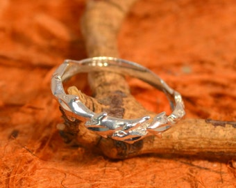 Silver Ring with Dolphins - 100% Sterling Silver- Gift Idea, Holiday Gift, Gift for Her - Free Shipping!!!