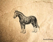 Horse Rubber Stamp - 3 x 2 inches