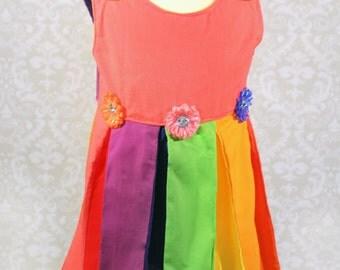 Rainbow Pleat Dress