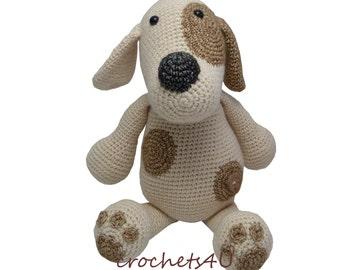 crochet pattern crocheted dog