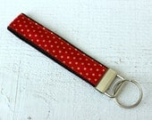 Key Fob Wristlet in Red a...