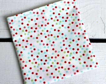 Reusable Snack and Sandwich Bag with Riley Blake Merry Dot Fabric