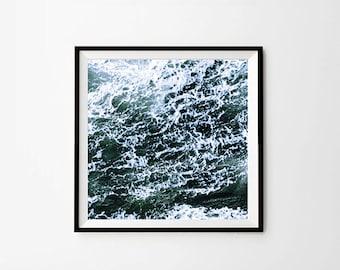 Sea Photography, Ocean Print, 8 x 8 in, 10 x 10 in, 12 x 12 in, Waves Photo, Ocean Art Print, Ocean Waves Decor, Ocean Water Print