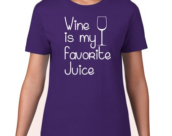 Funny Wine T Shirt, Wine Is My Favorite Juice Tee, Wine Tshirt, Funny Tshirt, Funny T Shirt, Wine Tee, Ringspun Cotton, Mens Plus Size