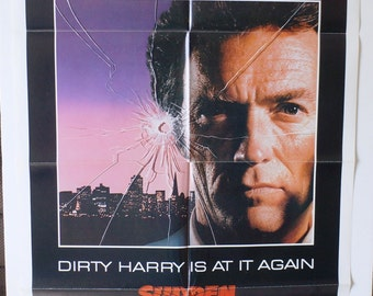 "Movie Poster  ""Sudden Impact""  Original 1983 Movie Poster - Clint Eastwood"