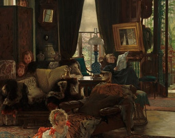 "James Tissot : ""Hide and Seek"" (c. 1877) - Giclee Fine Art Print"