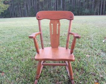CHILDS ROCKING CHAIR, Wood Rocking Chair, Children's Furniture, Ramsdell Gardner Mass