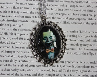 Billy the Ventriloquist Doll vintage style cameo necklace