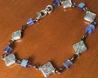 Lavender and Diamonds Bracelet
