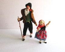 Vintage German BAPS Dolls Heidi & Grandfather Set