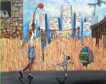 The Tutorial - Basketball Art Framed Print/Canvas