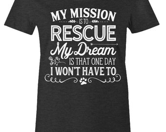 Women's Animal Rescue Tee - Animal Lover Tee - American Apparel Women's Poly Cotton T-Shirt - Item 2845