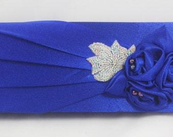 Royal Blue Handbag, Royal Blue Bridesmaid Beaded Clutch, Sapphire Evening Bag, Blue Wedding Clutch Bag, Bridal Clutch, Royal Blue Wedding