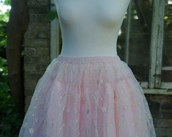 Vintage/Retro/Hand Made Rockabilly /pin-up/50s/Kawaii/Lolita/Ballerina Embroidered Full skirt/Tutu/Petticoat/Under Skirt Prom/Wedding/Party