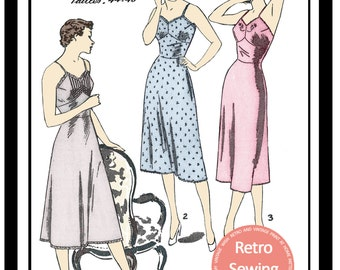 Petticoats 1950 French  Sewing Pattern -  PDF Full Size Sewing Pattern - Lingerie Sewing Pattern - Instant Download