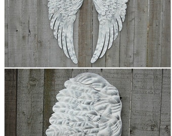 Metal angel wings wall decor etsy uk for Angel wings wall decoration uk