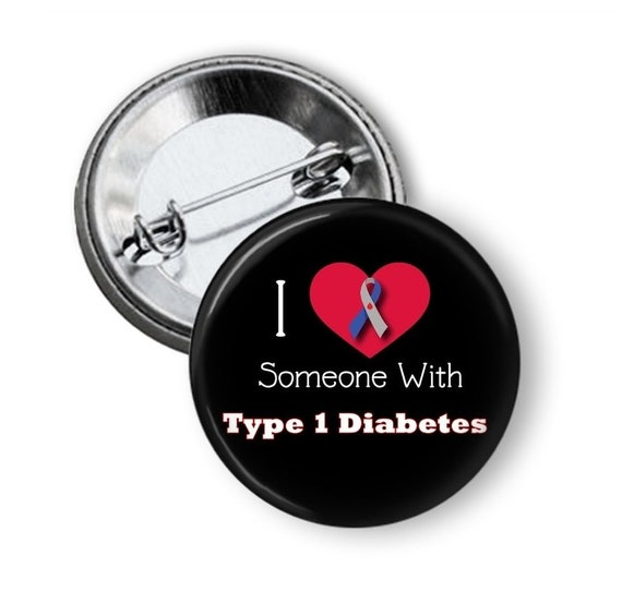 Type 1 Diabetes Button Juvenile Diabetes Pin Type 1