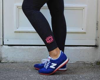 Monogram Leggings | Personalized Yoga Pants | Work Out Leggings | Multiple Colors