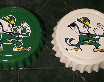 "Notre Dame Fighting Irish NFL Football Giant 16"" Bottle Cap Wall Hanging for Man Cave"